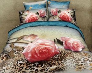 Romantic Luxury Design Bed Sheet King Size 3D Bedding Sets pictures & photos