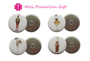 New Arrival Round 44mm4c Prints Promotion Gift Tin Badge Soft Magnets pictures & photos