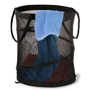 Black Mesh Pop up Laundry Basket pictures & photos