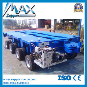 High Strength Automatic Axle Lowbed Trailer to Transport Large Machines pictures & photos