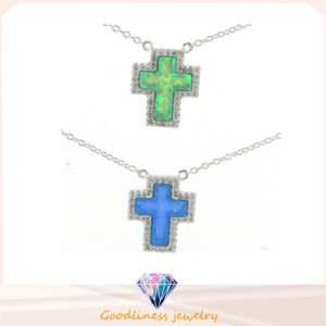 2015 Cross 925 Sterling Silver Opal Jewelry Necklace (A20n002) pictures & photos