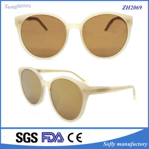 Classic Casual Design Polarized Italy Clear Acetate Stylish Sunglasses pictures & photos