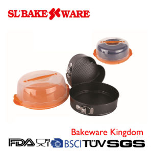 2PCS Bakeware Set with Round Carrier Carbon Steel Nonstick Bakeware (SL BAKEWARE) pictures & photos