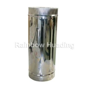 Stainless Steel Chimney Fireplace Double Wall Spigot-Lock Straight Pipe pictures & photos