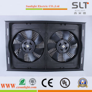 12V 80W Condenser Radiator Axial Fan with Double Blades for Car pictures & photos