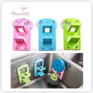 Wholesale Plastic Suction Cup Kitchen Sink Organizer Sponge Holder pictures & photos