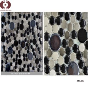 Round Ceramic Marble Glass Mosaic for Wall Decoration (19002) pictures & photos