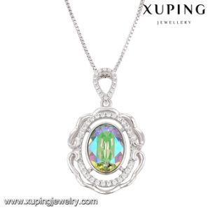 43090 Fashion Luxury Round Crystals From Swarovski Rhodium Imitation Jewelry Pendant Necklace pictures & photos