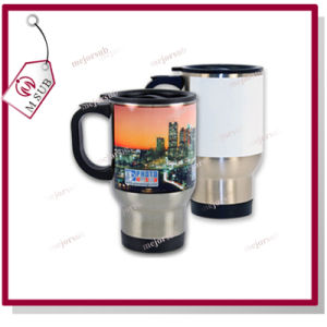 14oz Sliver and White Sublimation Stainless Steel Travel Mug pictures & photos