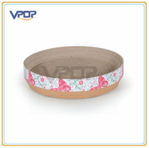 Beautiful Plate Shape Cardboard Pet Bed for Cat