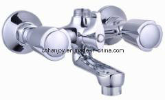 Wall Mounted Double Handle Bathtub Faucet (H56-102) pictures & photos