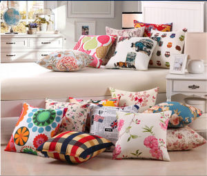 100% Calico Cotton Soft Cushion pictures & photos
