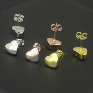 Fashion Ladies Stud Earrings Stainless Steel Jewelry Heart Stud Earrings (hdx1146) pictures & photos