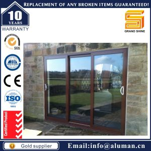 Top Grade Reflective Tinted Glass Aluminium Sliding Door pictures & photos