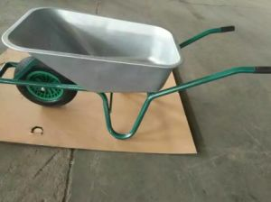 Building Wheelbarrow Galvanized Tray PU Wheel pictures & photos