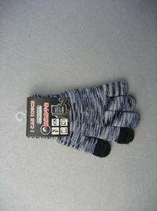 10g Polyester Liner Three Finger Touch Work Glove pictures & photos