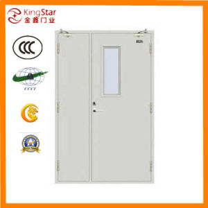 High-Quality Steel Fireproof Door with Glass (A1.00-2 mother-son)