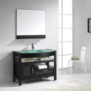 Modern Expresso Solid Wood Bathroom furniture pictures & photos