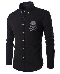 New Men′s Fashion Long Sleeve Black Dress Shirt (A434) pictures & photos