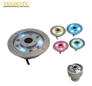 6*4W Full Color Change IP68 LED Underwater Fountain Waterproof Light pictures & photos