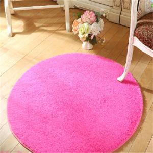 Microfiber Silk Wool Round Rug Flooring Mat Door Carpet