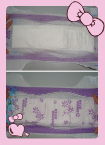 Dark Purple Colour PE Backsheet Disposable Baby Diaper pictures & photos