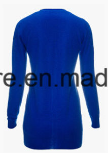 Women′s Minimalism Solid Color V-Neck Top Grade Pure Cashmere Sweater pictures & photos