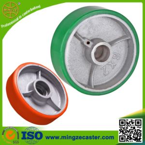 Machinery Dolly Heavy Duty PU Cast Iron Caster Wheel pictures & photos