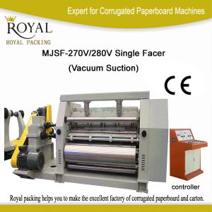 Single Facer of Corrugated Board Making Machine Mjsf-270/280V pictures & photos