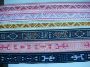 Jacquard Woven Webbing for Bag Straps Shoe Strap and Shore Upper pictures & photos