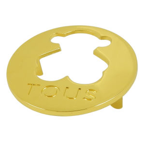 Gold Round Cutoout Metal Logo Plate for Handbag pictures & photos