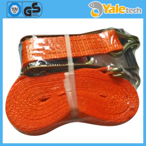 10t Ratchet Lashing Belts with Flat Hook Heavy Duty Lashing Straps pictures & photos