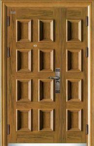Steel Armored Splicing Security Door 2014 Wood Grain UV-Proof pictures & photos