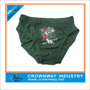 Wholesale Price Adorable Black Cotton Young Boys Underwear pictures & photos