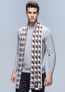 Men Fashion Wool Nylon Acrylic Woven Winter Warm Scarf (YKY4603) pictures & photos