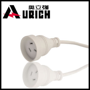 3-Pin Plug 240V White Australia Power Cable Hot Selling Extension Cord pictures & photos