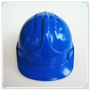 Blue Safety Hard Cap with Ratchet Adjuster and Ribbon Lining Ce Certificate pictures & photos