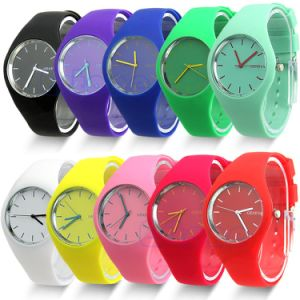 Wholesale Colorful Fashion Silicone Band Jelly Watch for Promotional pictures & photos