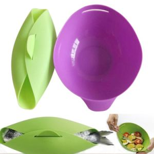 Food Grade Silicone Microwave Cook Fish Bowl Unique Silicone Bowl for Steaming Food pictures & photos
