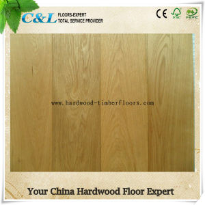 Foshan Supplier Light Color Brushed Oak Engineered Hardwood Flooring pictures & photos