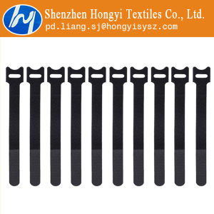 Black Adjustable Hook and Loop Velcro Cable Ties pictures & photos