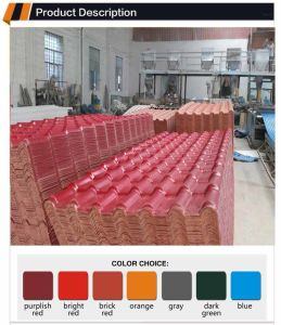 Good Quality Roofing Materials 25 Years Guarantee Synthetic Resin Tile Coated with Asa pictures & photos