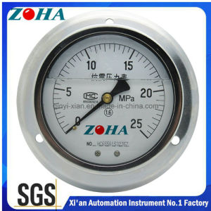 Eccentricity Connector Shock Resistance Manometer with Flange pictures & photos