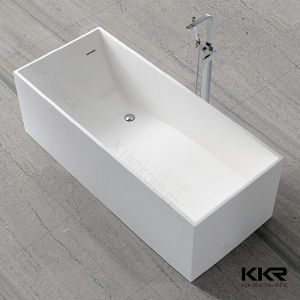 Hot Sale Oval Shape Solid Surface Freestanding Bathtub pictures & photos