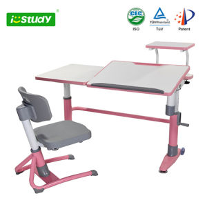Ergonomic Fashion Student Desk and Chair MDF Children Furniture pictures & photos