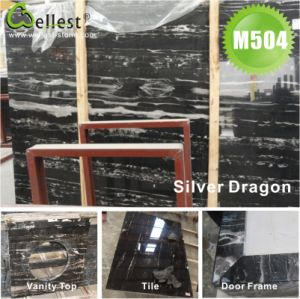 Silver Dragon Black Marble Tile/Slab/Step/Window Sills/Door Frame pictures & photos