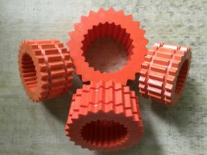 High Quality 4h-11h Hytrel Coupling Element by DuPont Hypalon Material with Red Color pictures & photos