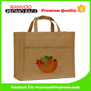 Customized Logo Eco Durable Shopping Jute Bag pictures & photos