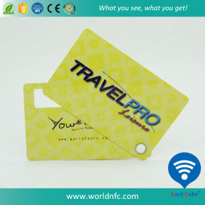Plastic Blank Signature Panel RFID Luggage Tag with Slot pictures & photos