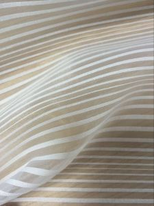 100%Polyester Glitter Stripe Organza Made in China pictures & photos
